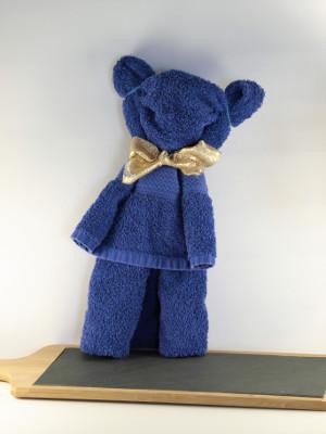Teddybeer uit handdoek vouwen