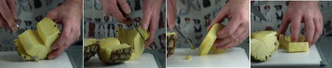 Hoe verse ananas snijden
