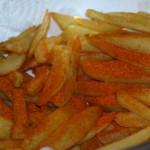 Nu zijn uw zelfgemaakte frieten bijna klaar om van te genieten.