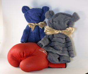 HanddoekeHanddoekteddy een leuk als origineel cadeau voor een babyshower!