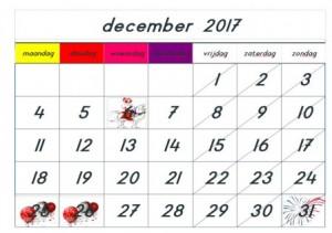 Kalender voor kleuter – afspraken, afstrepen en bespreken