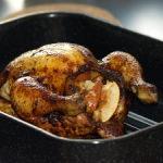 Gebraden kip met appelvulling
