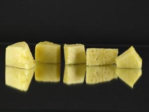 Kwark gevuld met sinaasappel en banaan