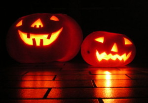Jack O'lantern - griezelige halloween pompoen