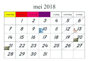 Dit jaar hebben wij ook een kalender gemaakt voor de kinderen vanaf groep.